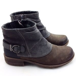 Earth Origins  Leather Ankle Boots 9.5 -B11N191 @